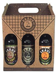 Kit presente Ekaut 3 estilos - Ekaut IPA, Ekaut APA 1817 e Ekaut Coffee Stout - 500ml