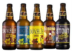 Box Duvália 5 estilos - APA, Blonde Ale, Weiss, IPA e Stout Mel de Engenho - 500ml