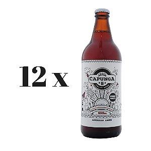 Caixa 12 Cervejas Capunga American Lager - 600 ml