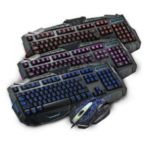 Kit Teclado e Mouse Gamer V-100 Black