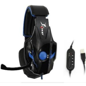 Headset Gamer Knup KP-358 USB Blue