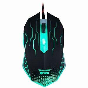 Mouse Gamer TecDrive XFire WuXi 3200 DPI 7 Botões - Verde