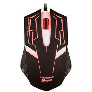 Mouse Gamer TecDrive XFire Skanda 3200 DPI 7 Botões - Vermelho