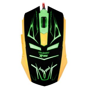 Mouse Gamer TecDrive XFire Neith 3200 DPI 7 Botões - Verde