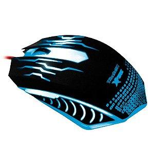 Mouse Gamer TecDrive XFire WuXi 3200 DPI 7 Botões - Azul