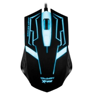Mouse Gamer TecDrive XFire Skanda 3200 DPI 7 Botões - Azul