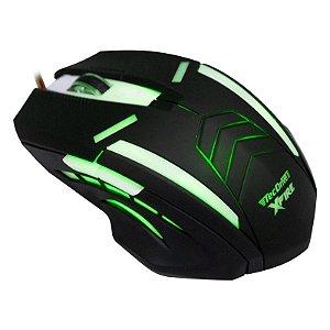 Mouse Gamer TecDrive XFire Shinigami 3200 DPI 7 Botões - Verde