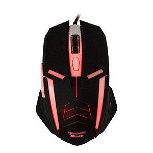 Mouse Gamer TecDrive XFire Shinigami 3200 DPI 7 Botões - Vermelho