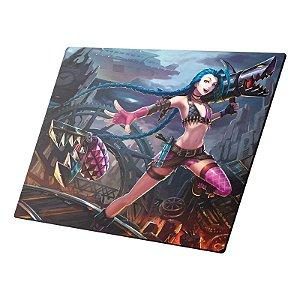 Mousepad Gamer League of Legends Jinx Pequeno - DTN-MNI205230-1002