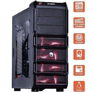 COMPUTADOR GAMER HARDEST RED AMD FX-8320E - GTX 970 - HD 1TB - 8GB DE MEMORIA 1600 MHZ - MVHARVM83201T08