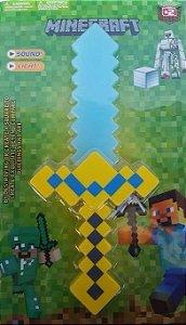 Espada Minecraft com Som e Led