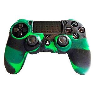 Capa de Silicone Empire para Controle de PS4 Verde e Preto 4062