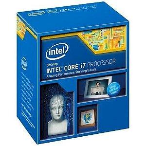 Processador Gamer Intel Core i7-4790  Haswell, Cache 8MB, 3.6Ghz (4Ghz Max Turbo), LGA 1150, Intel HD Graphics 4600 BX80646I74790