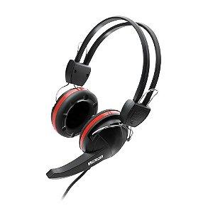 Fone de Ouvido Multilaser com Microfone Premium Gamer Crab Preto Vermelho Ps2 - PH042