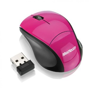 Multilaser Mini Mouse sem Fio Wireless 2.4Ghz Rosa MO151