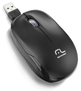 Multilaser Mouse para Notebook USB 1200 Dpi MO197 Preto