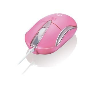 Multilaser Mouse Óptico USB Classic 2 Rosa - MO170