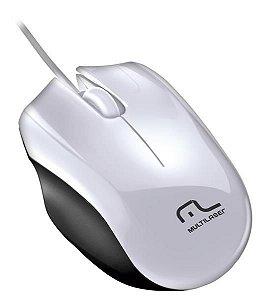 Multilaser Mouse Precision USB MO217 Branco e Preto
