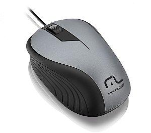 Multilaser Mouse Emborrachado Cinza E Preto - MO225