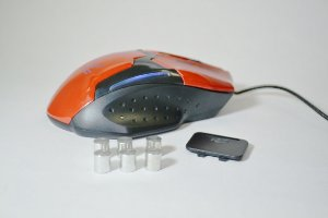 Mouse Gamer Microdigi MD-MS898 Red - Com Macro