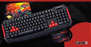 Combo Gamer  TecDrive Teclado GAMER + Mouse 3200 DPI + MousePad