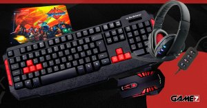 Combo Gamer Black Friday Game7 Mouse Teclado Headset e Mouse Pad