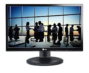 Monitor LG 19.5´ com Ajuste de Altura DVI Black Piano 20M35PD-M