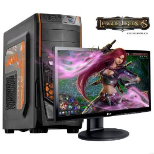 PC GAMER GAME7 i5 4590 4 GB 2x4 HD 500 GB Monitor LG 19.5 - MOBA League Of Legends