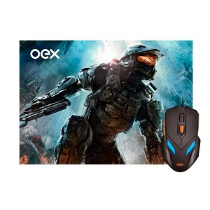 Combo Gamer Mouse e Mouse Pad com Led 6 Botões 2400 dpi - MC-100