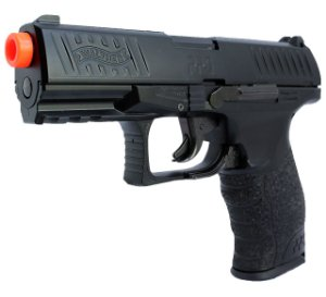 Combo Pistola Spring Airsoft Walther PPQ Full Metal Umarex - Maleta de Plástico Rossi - Oculos de Proteçao Aero
