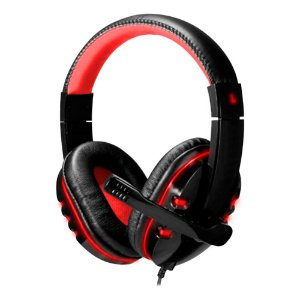 HeadSet Gamer BlackRed com Led