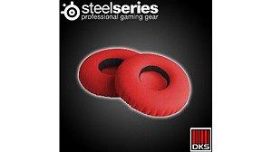 SteelSeries Flux Ear Almofada de pano vermelho