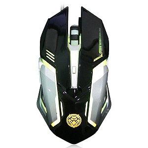 Mouse Gamer KP80 LEDs 7 cores com Macro 6 Botões 3200DPI