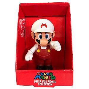 Boneco Do Super Mario Bros Fire Com 20cm Em Pvc