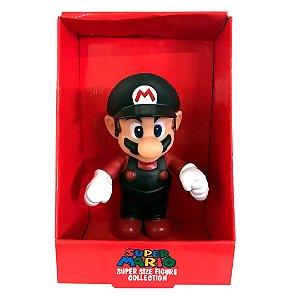 Boneco do Super Mario Preto/Vermelho Com 20cm em PVC
