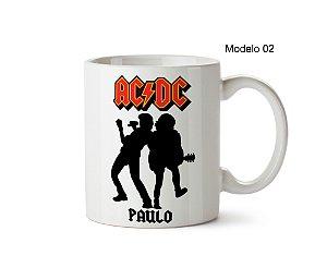 Caneca da Banda AC/DC - Com Seu Nome