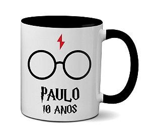 Caneca Harry Potter para aniversário - Personalizada com nome e idade