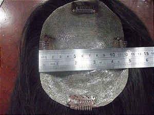 protese de topo feminina cabelo humano preto