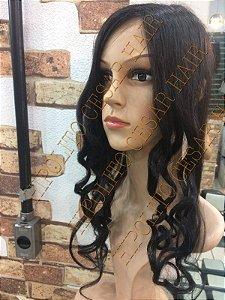 PROTESE CAPILAR EM SILICONE micropele cabelo longo