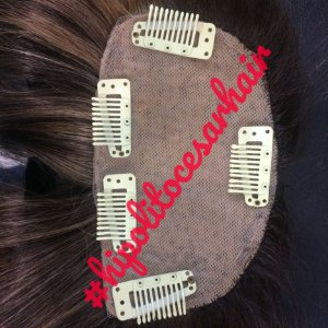 Protese capilar feminina  de topo aplique de topo micropele cabelo humano