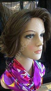 peruca cabelo humano chanel castanho