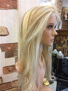 protese  capilar feminina total em micropele  cabelo humano loiro