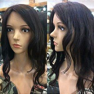 topper wig protese capilar feminina  cabelo humano.tamanho 17x12