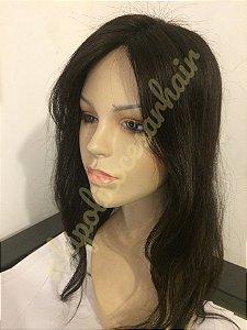 protese capilar feminina  cabelo humano.tamanho 17x12