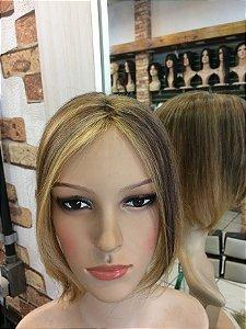 protese capilar de topo feminina topper wigs 13x12cm