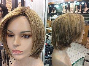 peruca quimioterapia com silk top cabelo humano (M)