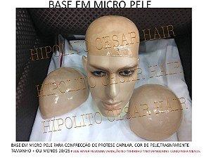 base de silicone micropele para confecção de protese capilar  3uni