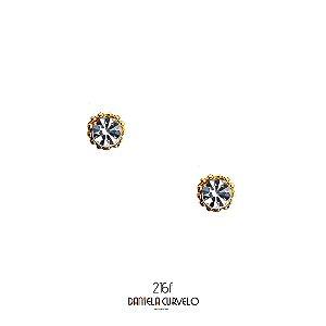 Brinco  Ponto de Luz Branco - BFA216BR