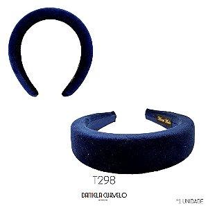 Tiara Acolchoada Azul - T298
