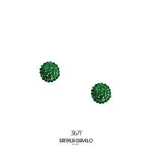Brinco Redondo Verde Esmeralda - BF367VE